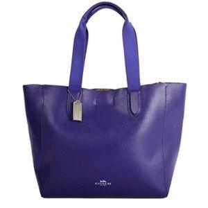 Coach Derby Blue Leather Tote Shoulder Bag Purse